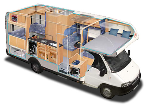 El mundo de la autocaravana capuchina - Interiores de caravanas ...